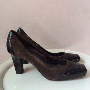 Franco Sarto Suede & Patent Leather Heels